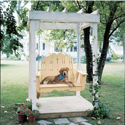 Uwharrie Chair Nantucket Porch Swing Set w/ Arbor - UW-NANTUCKET-SET2