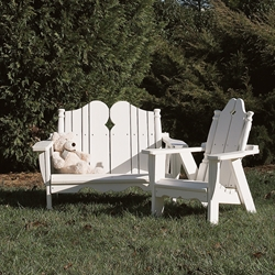 Uwharrie Chair Nantucket Kids Outdoor Furniture Set - UW-NANTUCKET-SET3