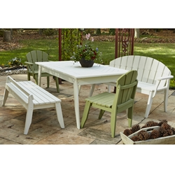Uwharrie Chair Plaza Patio Dining Set for 8 - UW-PLAZA-SET2