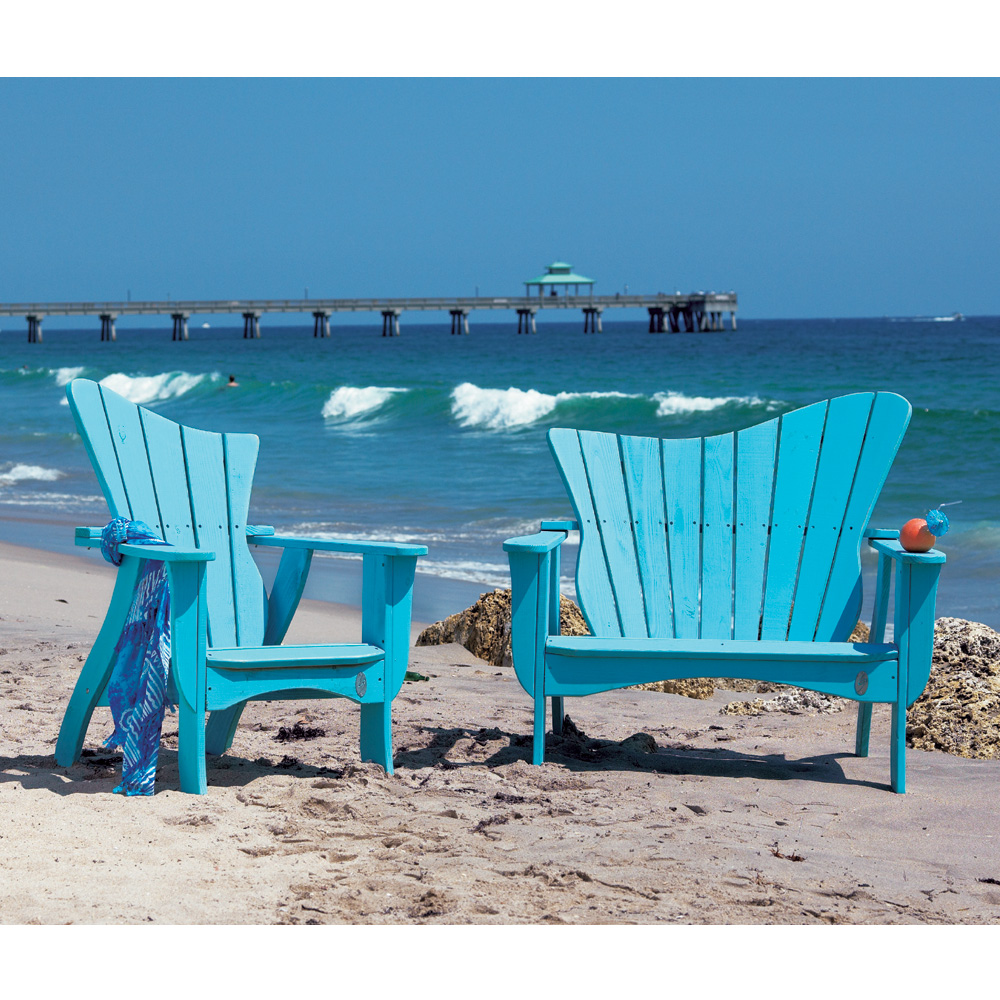 Uwharrie Chair Wave Lounge Chair And Settee Set   UW WAVE SET2
