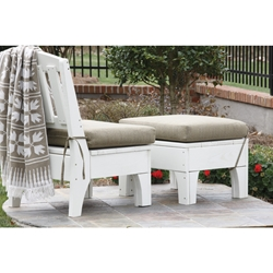 Uwharrie Chair Westport Solo Lounge Set w/ Leg Rest - UW-WESTPORT-SET3