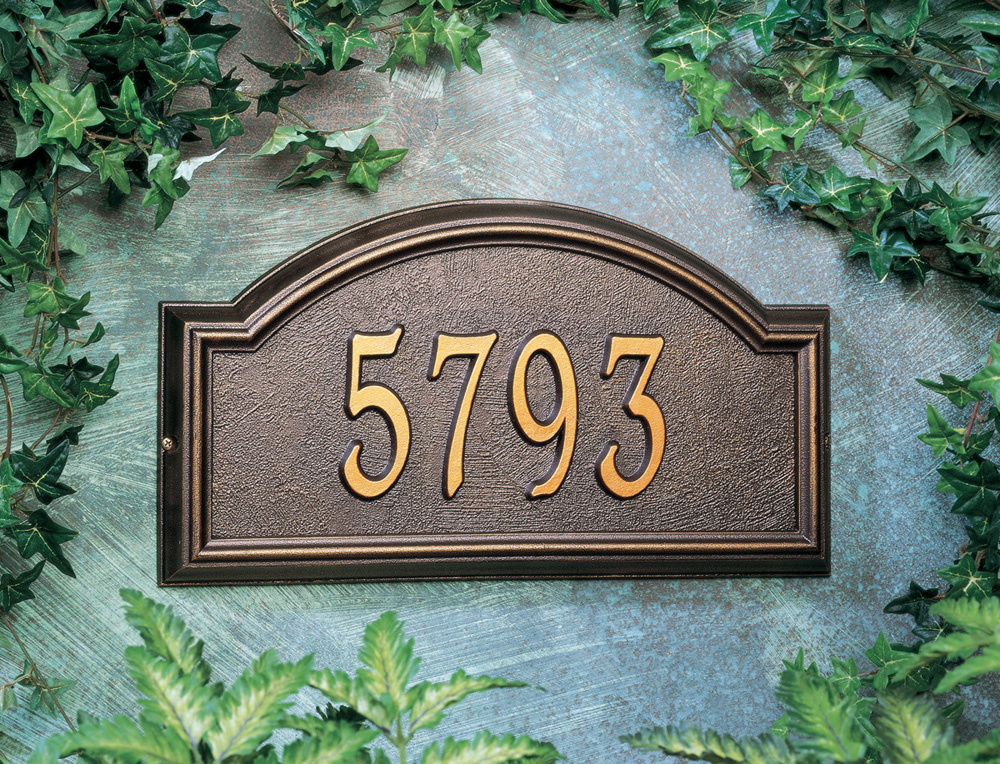 Whitehall Providence Arch Standard Wall Address Plaque