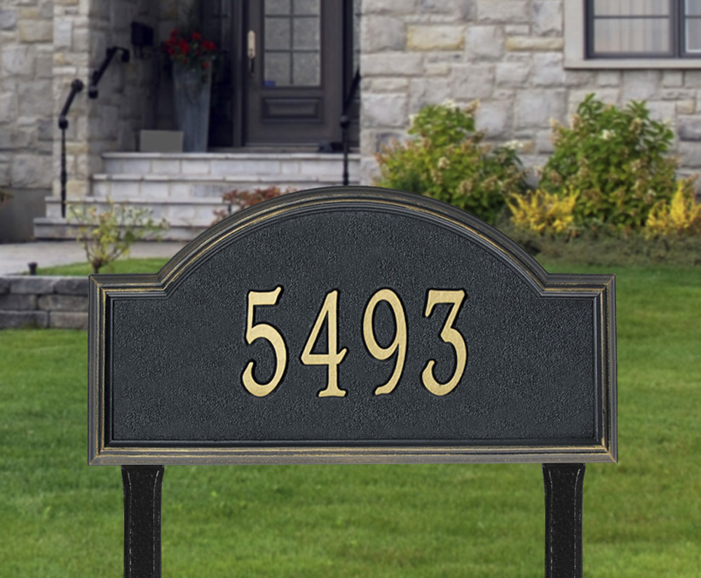 Whitehall Providence Arch Estate Lawn Address Plaque One
