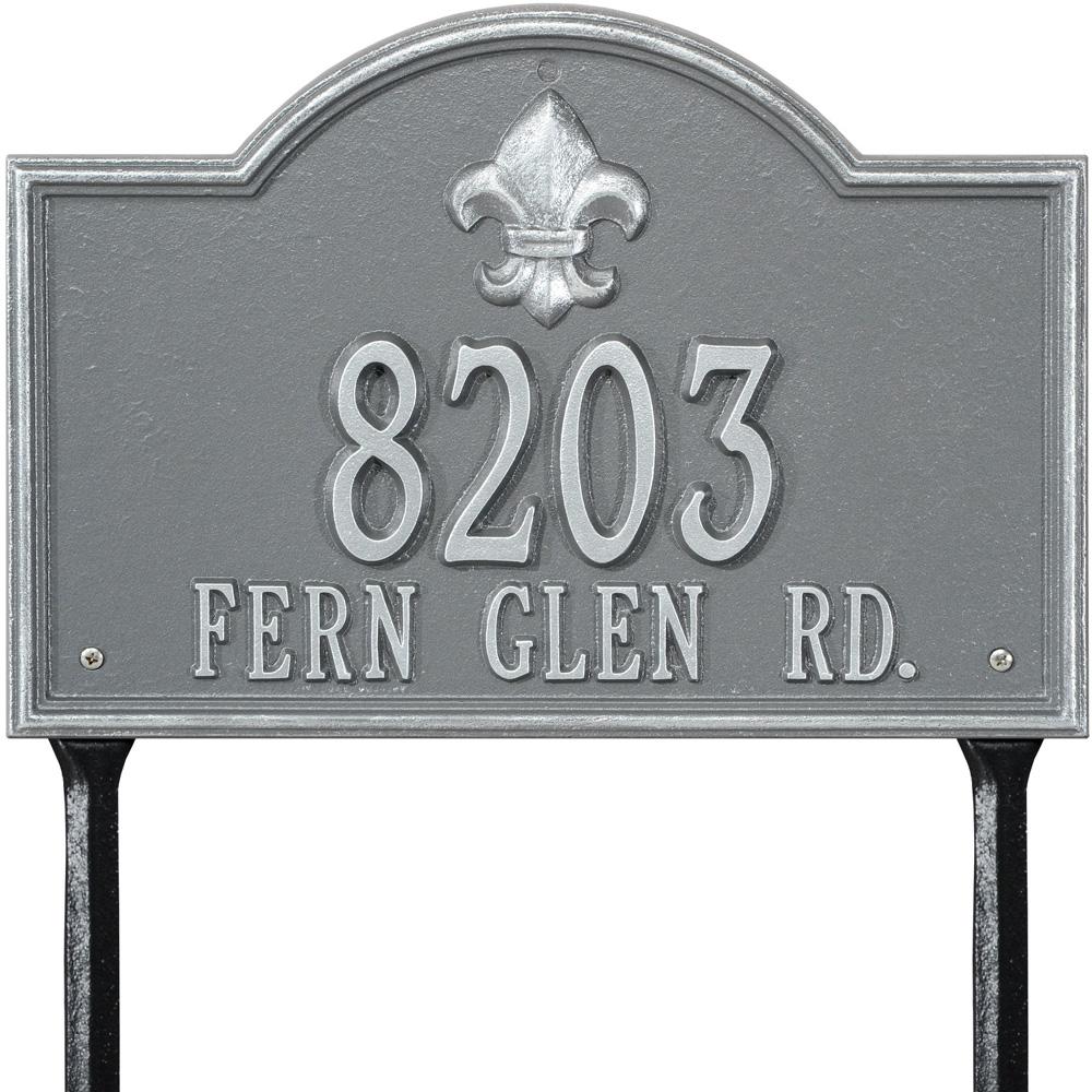 Whitehall Bayou Vista Standard Lawn Address Plaque Two