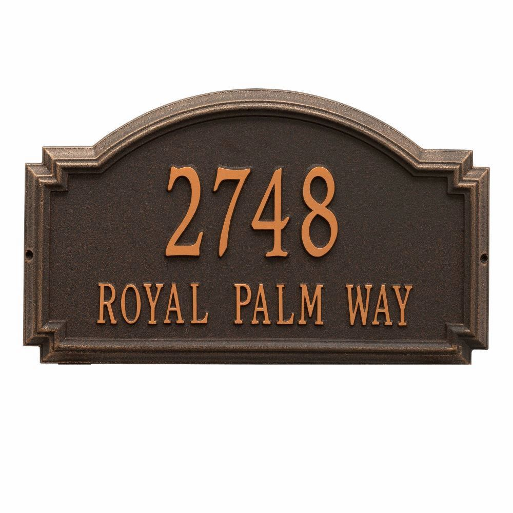 home address plaques. Whitehall Williamsburg Estate Wall Address Plaque - Two Line Home Plaques