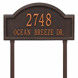 home address plaques. Whitehall Providence Arch Estate Lawn Address Plaque - Two Line Home Plaques 4