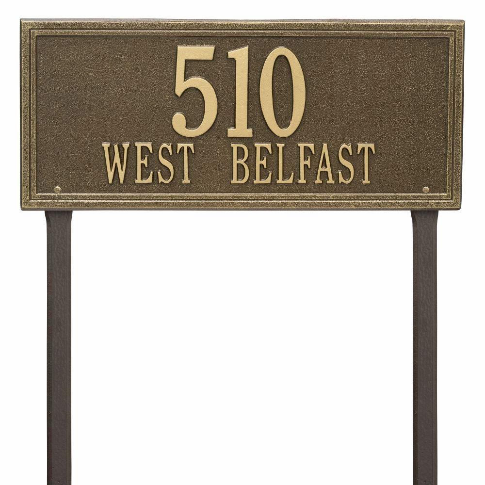 Whitehall Double Line Estate Lawn Address Plaque Two