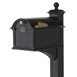 Whitehall Balmoral Mailbox Monogram & Post Package in Black