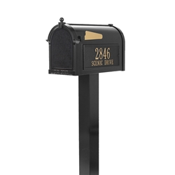 Whitehall Premium Mailbox Package in Black