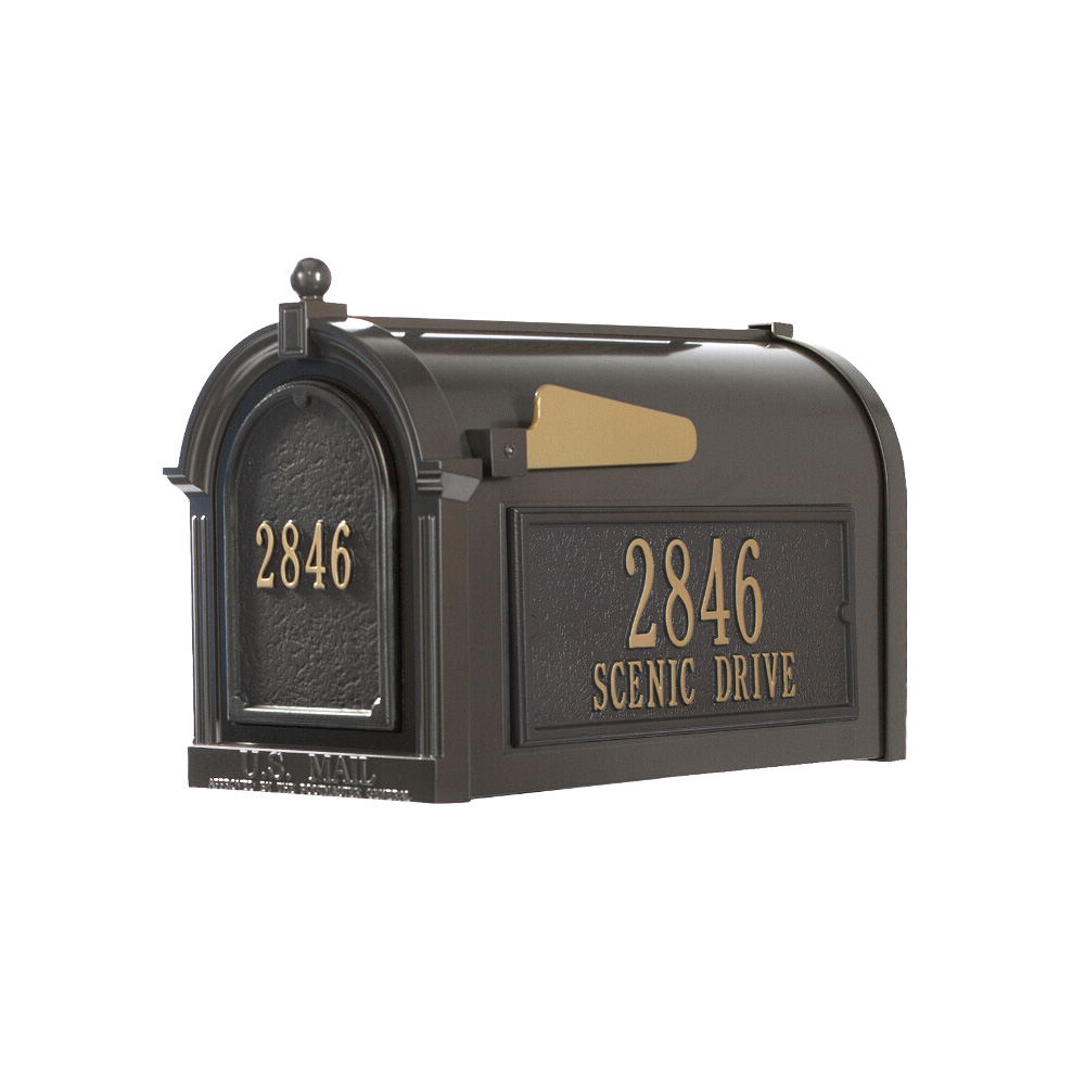 Whitehall Capitol Mailbox Side Plaques and Door Plaque Package in Bronze  sc 1 st  USA Outdoor Furniture & Whitehall Capitol Mailbox Side Plaques and Door Plaque Package in ...