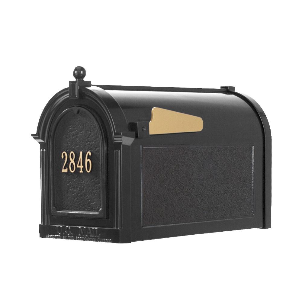Whitehall Capitol Mailbox Door Plaque Package In Black 16510