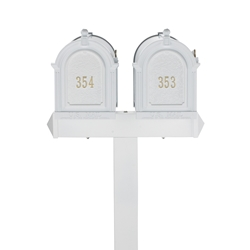 Whitehall Capitol Dual Mailbox Package in White