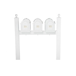 Whitehall Capitol Triple Mailbox Package in White