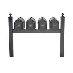Whitehall Capitol Quad Mailbox Package in Black