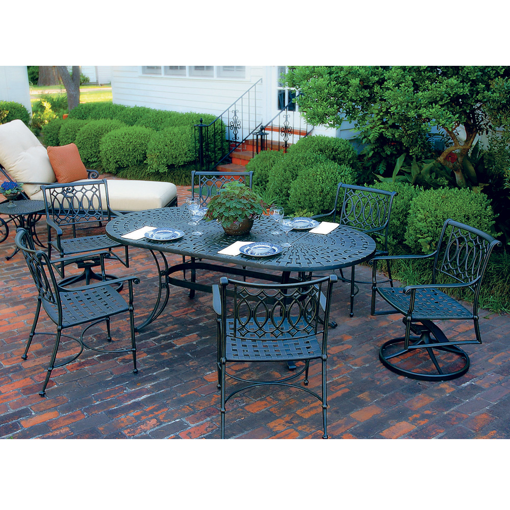 Cast aluminum patio furniture sets images traditions 7 for Aluminum patio furniture