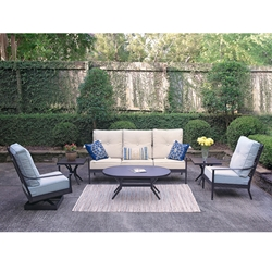 Windham Ashford Cast Aluminum Sofa and Lounge Chair Set - WN-ASHFORD-SET1