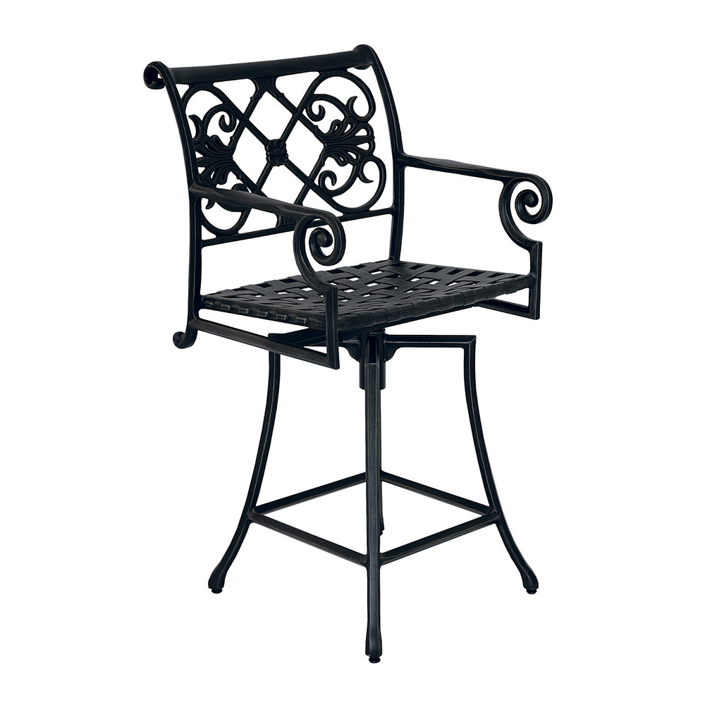 Windham Catalina Swivel Counter Stool - 3017 · Catalina Cast Aluminum ...  sc 1 st  USA Outdoor Furniture & Windham Catalina Cast Aluminum Swivel Counter Stool | WN3017 islam-shia.org