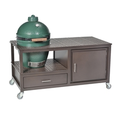 Windham 30 Inch x 60 Inch Large Grill Cart W/ Cabinet and Drawer For Smokers - 306011ED