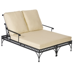 Windham Universal Cast Aluminum Double Chaise Lounge - 6099