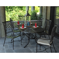 Windham Elysee Cast Alumium Patio Dining Set for 6 - WN-ELYSEE-SET1