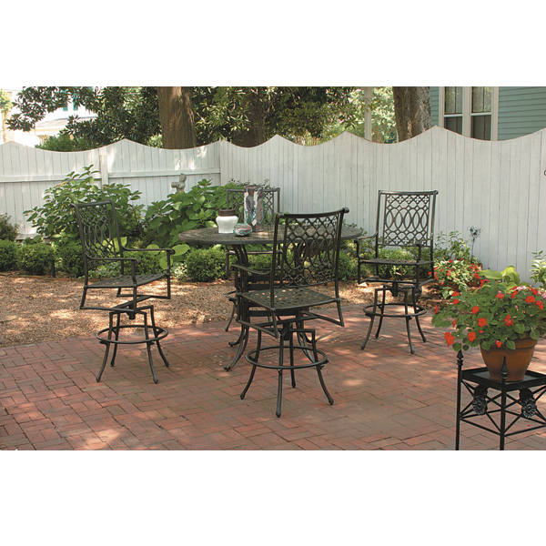 Windham Elysee Cast Alumium Patio Bar Set With 4 Stools   WN ELYSEE SET2