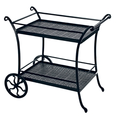 Windham Woven Cast Aluminum Tea Cart - 9937