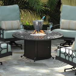 Windham Cast Aluminum Fire Pit Tables