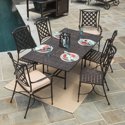 Windham Kinsale Cast Aluminum Patio Dining Set for 6 - WN-KINSALE-SET1