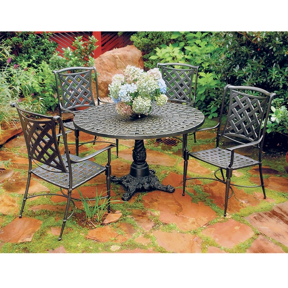 Windham Kin Cast Aluminum Patio Dining Set For 4 Wn Set3