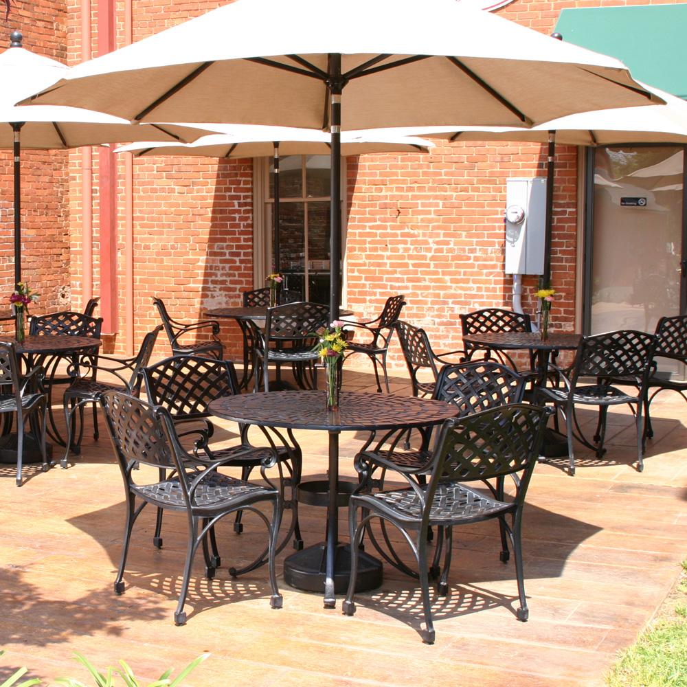Windham Meridian Cast Aluminum Patio Dining Set With 40 Table WN MERI
