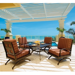 Windham Metro Classic Spring Club Chair Patio Set - WN-METRO-SET1