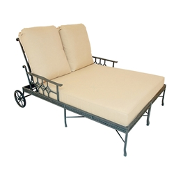 Provence Cast Aluminum Double Chaise