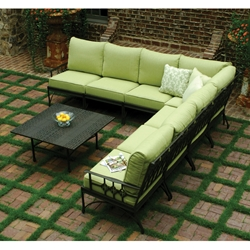 Windham Provence Cast Aluminum Outdoor L-Sectional - WN-PROVENCE-SET1