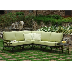 Windham Provence Small Cast Aluminum Sectional - WN-PROVENCE-SET4