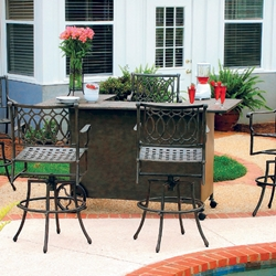 Windham Rolls Roy Cast Aluminum Bar Tables