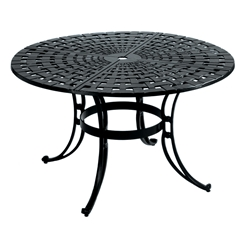 Windham Castings Woven Tables with Scroll Base