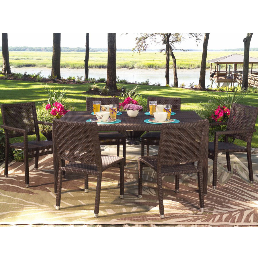 Outdoor Patio Furniture Miami: Woodard All Weather Wicker Miami Rectangular Dining Table