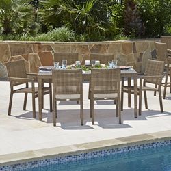 Woodard All-Weather Wicker Miami 7-Piece Dining Set - WD-WICKER-SET2