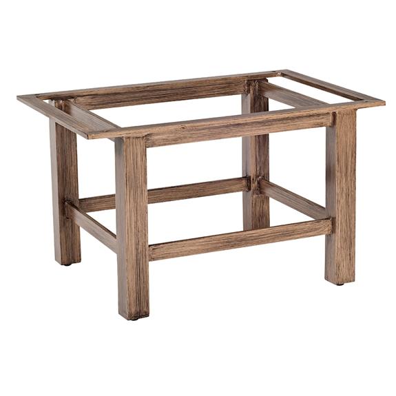 Woodard trestle rectangular coffee table base 2q4500 for Trestle coffee table