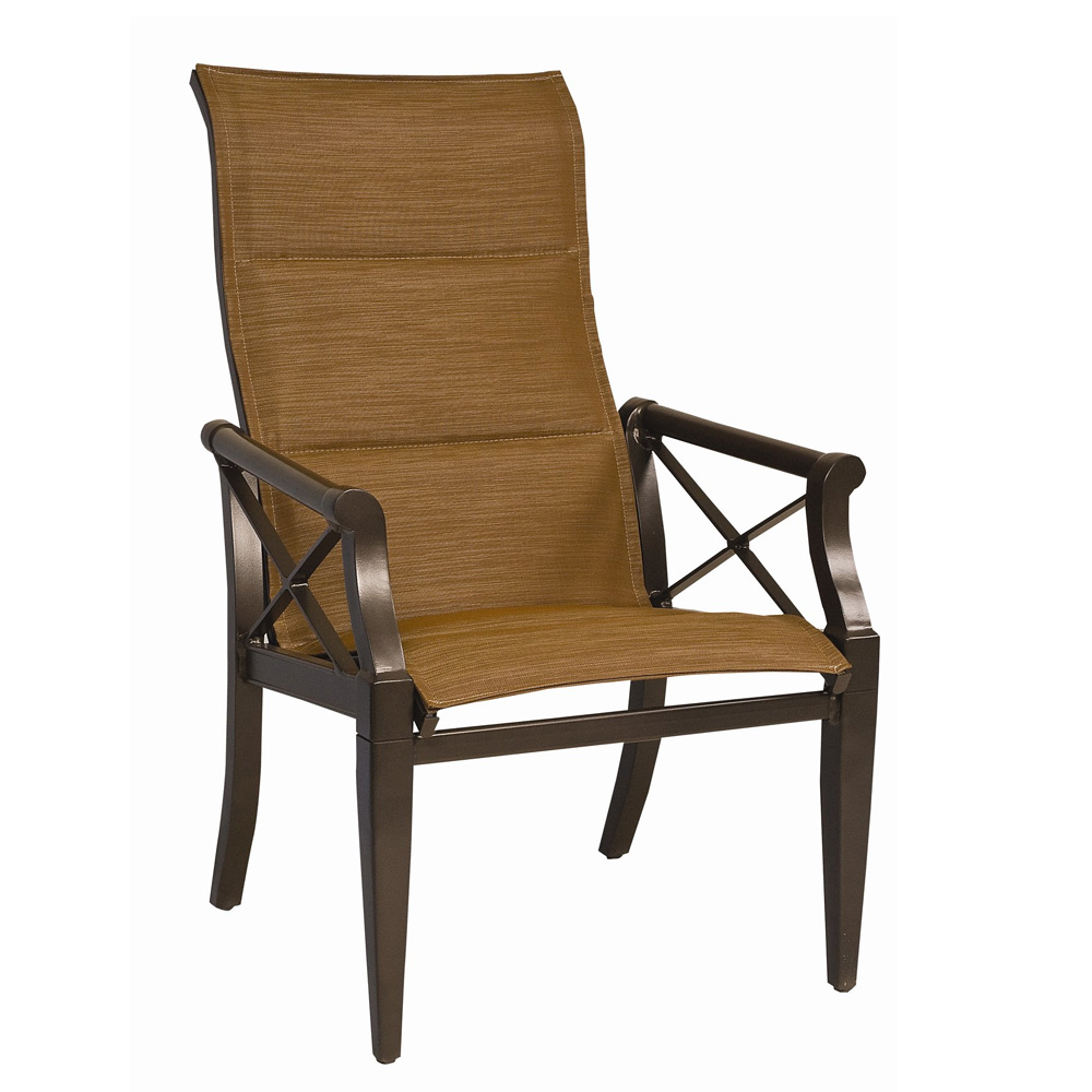 Woodard Andover Padded Sling High Back Dining Arm Chair - 3Q0525