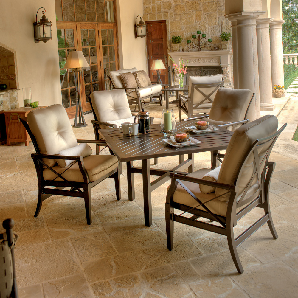 Woodard Andover Cushion 5 Piece Patio Dining Set - 510401-4V4800-03948