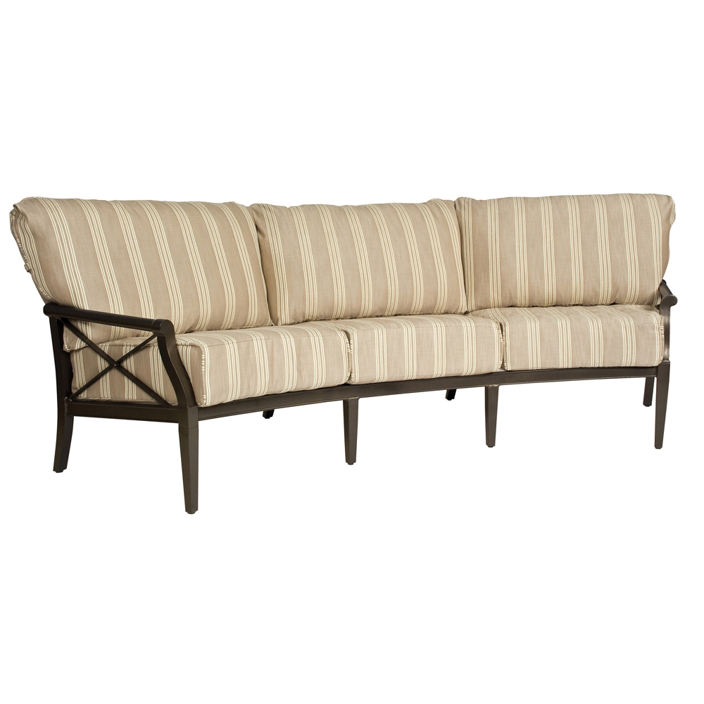 Woodard Andover Cushion Crescent Sofa   510464