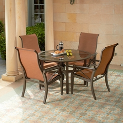 Woodard Andover Sling 5 Piece Patio Dining Set - WD-ANDOVERSLING-SET1