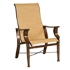 Woodard Arkadia Sling High-Back Dining Arm Chair - 5H0425