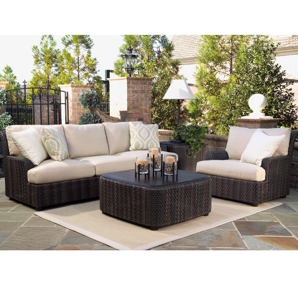 Woodard aruba wicker cocktail table s530211 for Woodard outdoor furniture