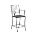 Woodard Aurora Stationary Counter Stool With Arms - 5L0071