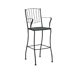 Woodard Aurora Stationary Bar Stool With Arms - 5L0081