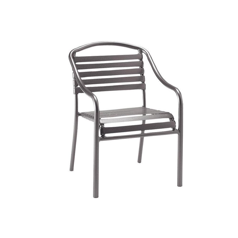 woodard baja strap stackable dining arm chair 23001n