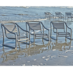 Woodard Baja Strap Stackable Sand Chair Set of 3 - WD-BAJA-SET1