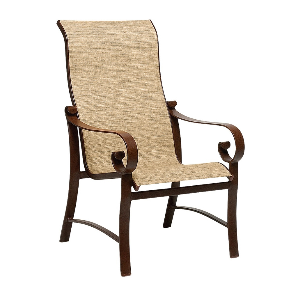 Woodard Belden Sling High Back Dining Arm Chair - 62H425